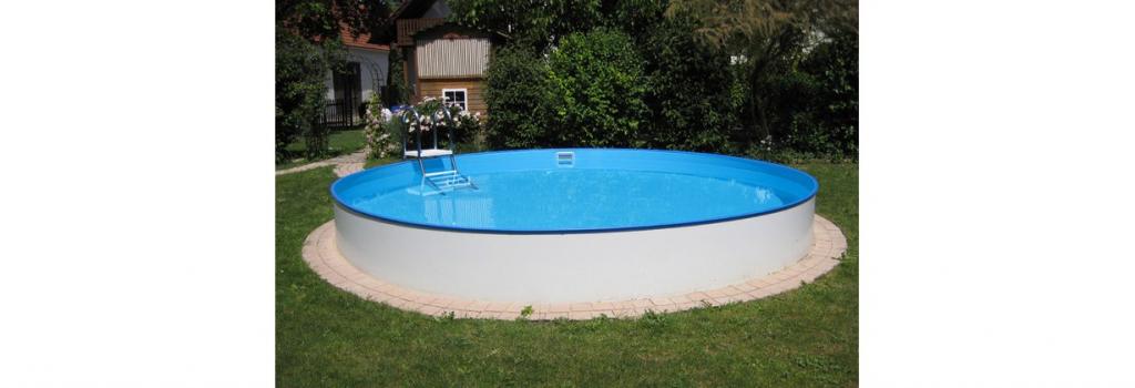 Kerek Szabadon felállítható medence Balearen Ø 500x150cm (SW:0,8 IH:0,6) létra nélkül