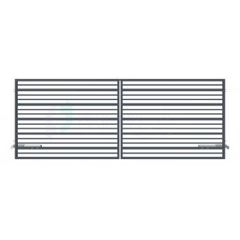 RUBIN Nagykapu 150*400cm+Elektromos kapunyitó ZN RAL7016 Antracit