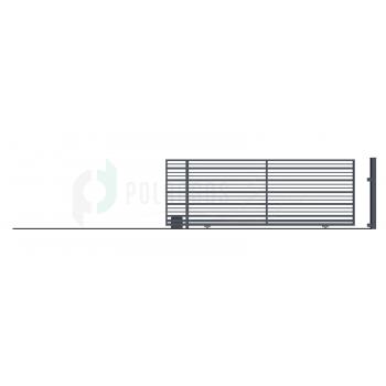 RUBIN Ellensúly nélküli Tolókapu balos 152*430 (400)cm+Elektromos Kapunyitó