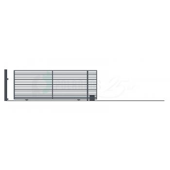 RUBIN Ellensúly nélküli Tolókapu jobbos 152*430 (400)cm+Elektromos Kapunyitó