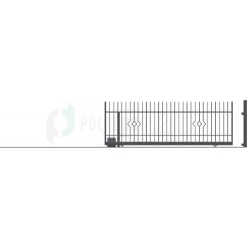 LILA Ellensúly nélküli Tolókapu balos+Elektromos Kapunyitó 152*430(400)cm