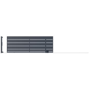 OPÁL Ellesnúly nélküli Tolókapu+automata balos 152*400cm RAL7016 MDS