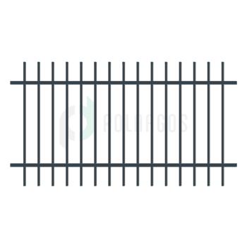 BARCELONA táblás kerítéselem, Antracit színű 110x200cm