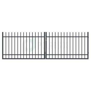 BARCELONA Kétszárnyú Nagykapu, Antracit színű 110x300 cm