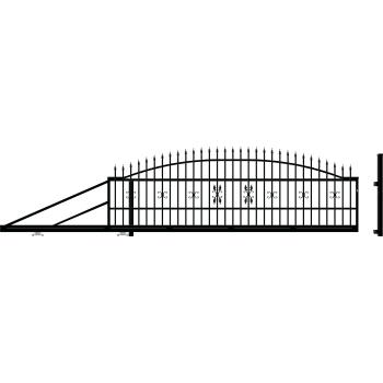 ELIZA ÚSzókapu bal, Fekete 144X400cm