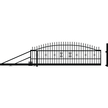 ELIZA ÚSzókapu bal + Elektromos kapunyitó, Fekete 144X400cm