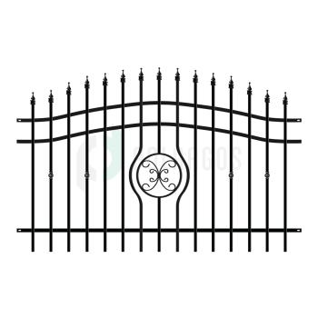 MALAGA Táblás kerítéselem 200 (202)x130cm, Fekete RAL9005