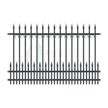 YORK Táblás kerítéselem 200x130cm, Fekete RAL9005