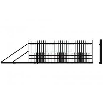 YORK Úszókapu bal 154X400cm, Fekete RAL9005
