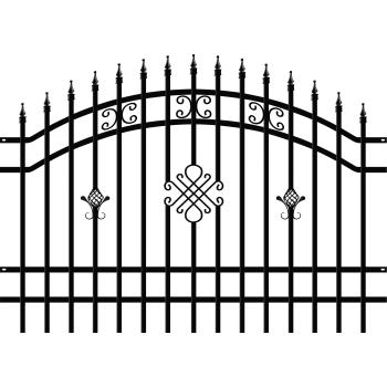 GRETA LUX Táblás kerítéselem, Fekete 145x200cm