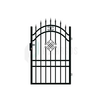 GRETA_LUX Kiskapu Jobbos+zár Fekete 175x100(108)cm