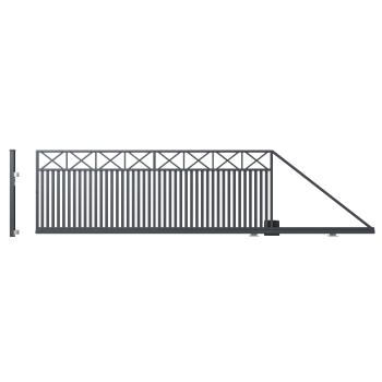 Úszókapu WINDSOR jobbos 149X600(400)cm horganyzott, porfestett RAL 7016