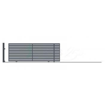 Ellensúly nélküli Tolókapu Jobbos SZAFIR 152*428,5(400)cm, Antracit színű
