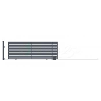 Ellensúly nélküli Tolókapu Jobbos SZAFIR 152*428,5 (400)cm+Elektromos kapunyitó, Antracit színű