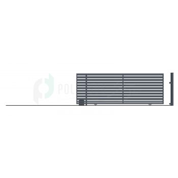 Ellensúly nélküli Tolókapu Balos SZAFIR 152*428,5 (400)cm+Elektromos kapunyitó, Antracit színű