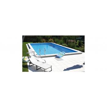 Lugano Styropor medence szett 700x350x150cm (IA:0,8), nemesacél létrával