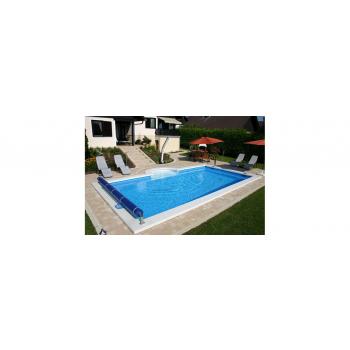 London Styropor medence szett  800x400x150cm Római lépcsővel