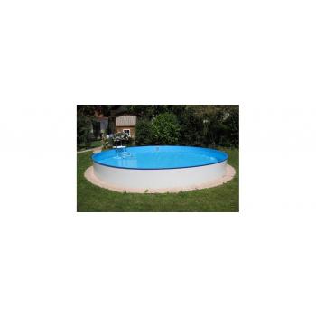 Kerek alakú, földbe ágyazott medence Barbados Ø 600x150cm (SW:0,8 IH:0,6) létrával
