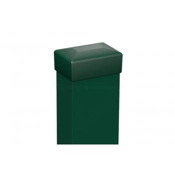 Kerítés oszlop zöld 153-173 magas kerítéshez, 240x6x4 cm